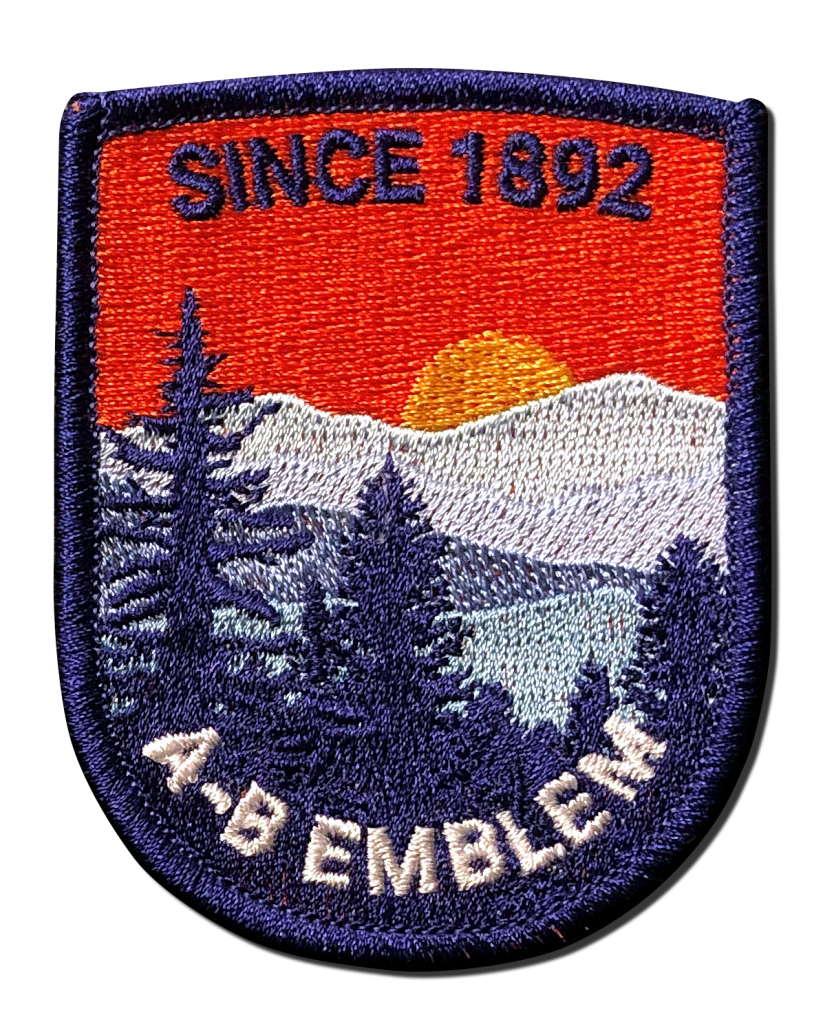 Fully Embroidered patch image. This type of embroidered patch is all stitching. The backing twill does not show.