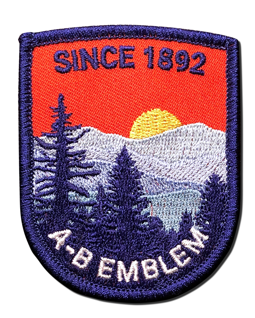 Partially aka non-fully embroidered patch image. This type of patch allows the backing twill to show. You see the color and texture of it.